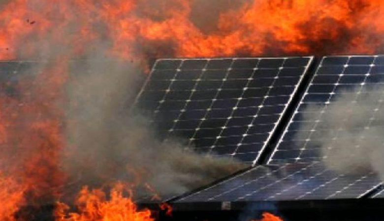 آتش-سوزی-نیروگاه-خورشیدی