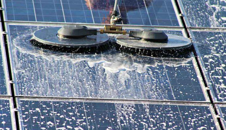 شست و شوی پنل خورشیدی