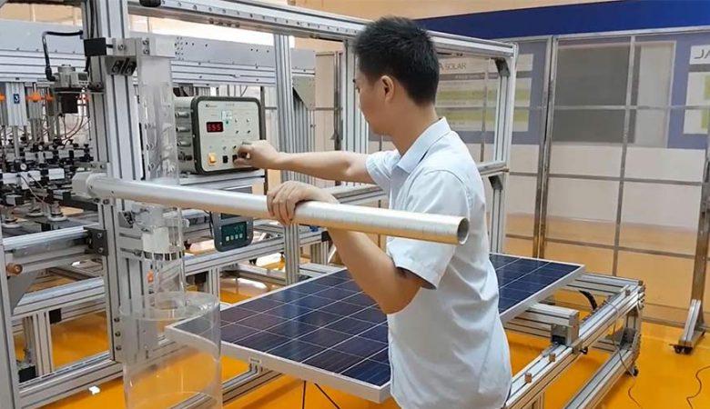 تست تگرگ پنل خورشیدی