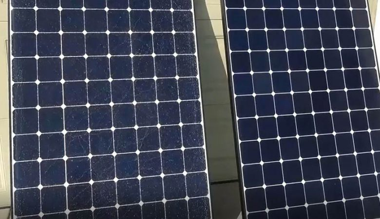 مقایسه جالب پنل خورشیدی آسیب دیده و سالم