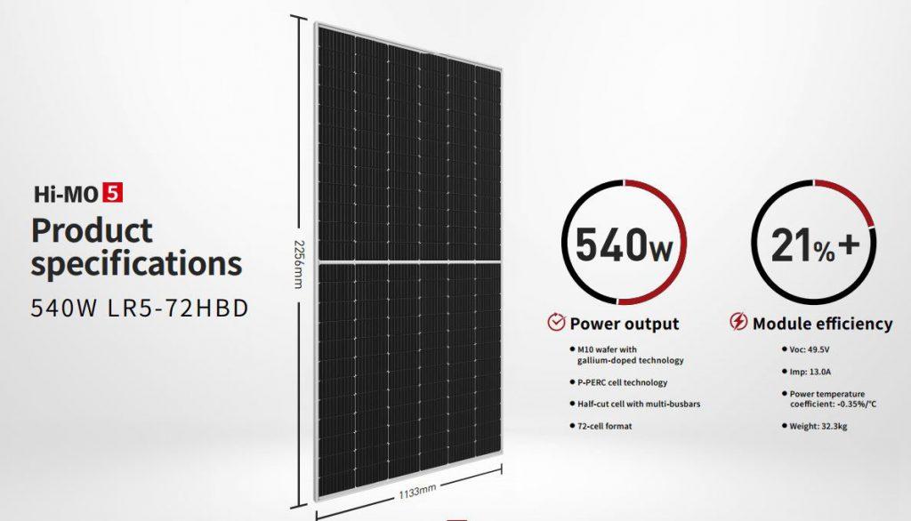 پنل خورشیدی لانگی HI-MO5