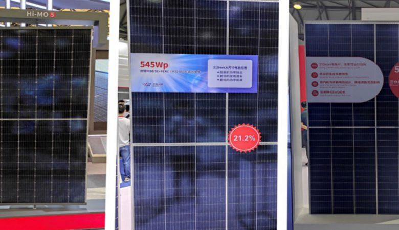 پنل خورشیدی توان بالا نمایشگاه شانگهای