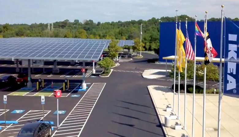 MW-scale solar carport